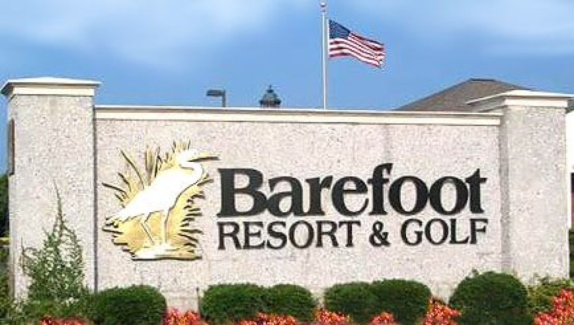 Barefoot Resort & Golf entrance sign